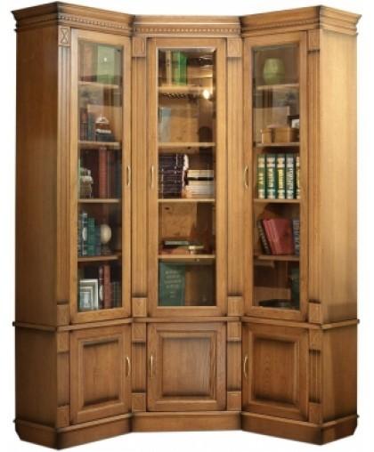Библиотека угловая 1 Верди Люкс дуб натуральный