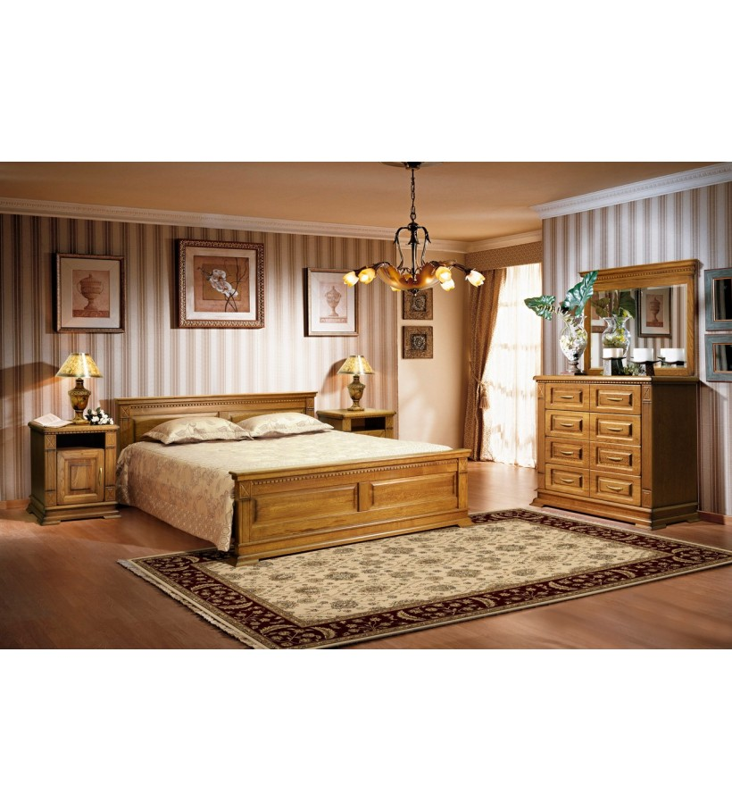 Комплект спальни 6 Верди Люкс дуб европейский