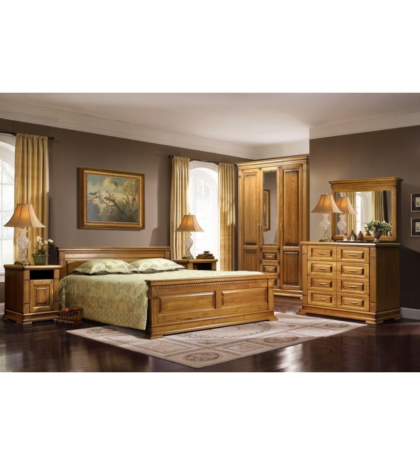 Комплект спальни 5 Верди Люкс дуб натуральный