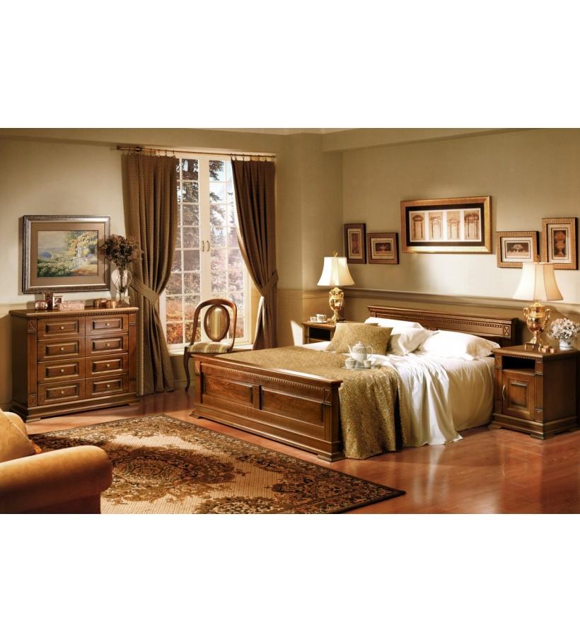 Комплект спальни 7 Верди Люкс мореный дуб